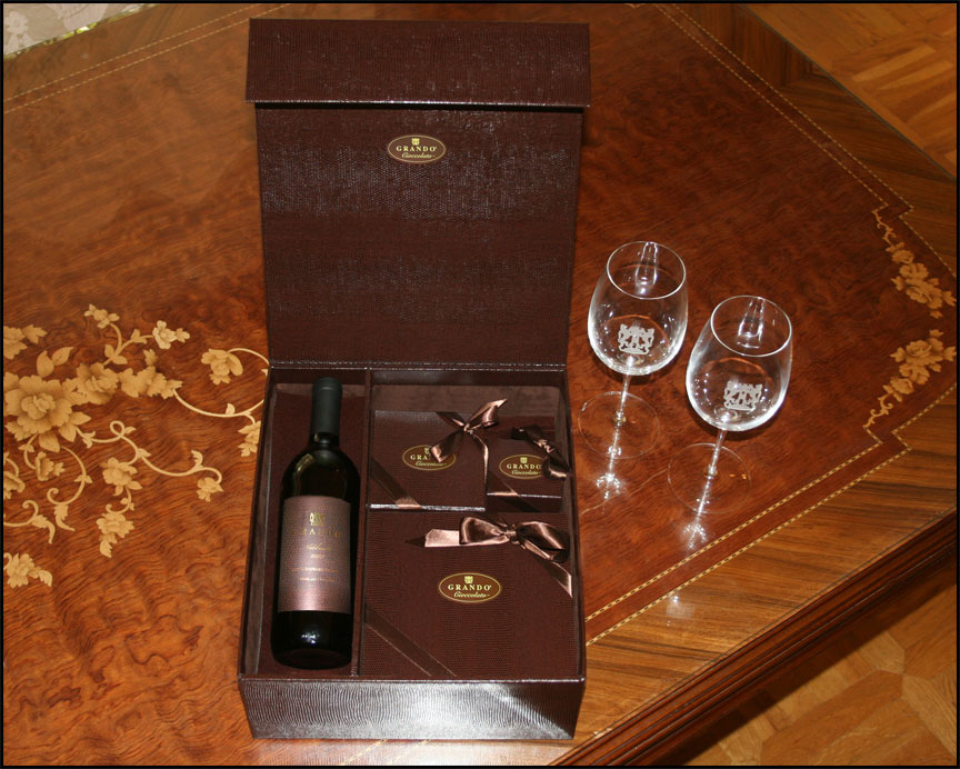 giftbox wine red